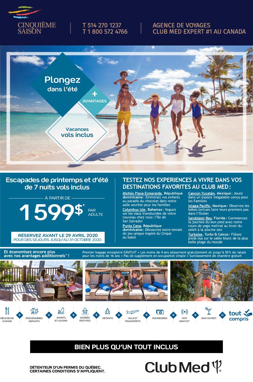 Club Med Plongez dans l'été !