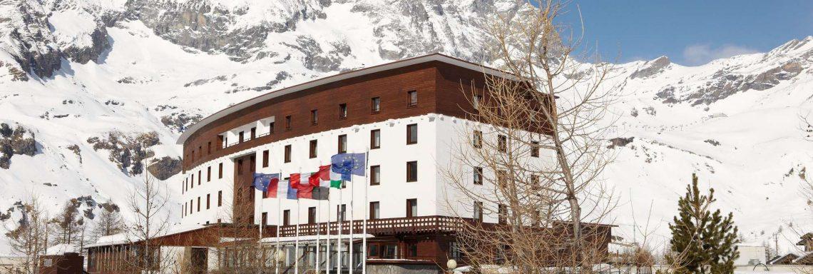 Club Med Cervinia, en Italie - Le complexe vu de l'extérieur