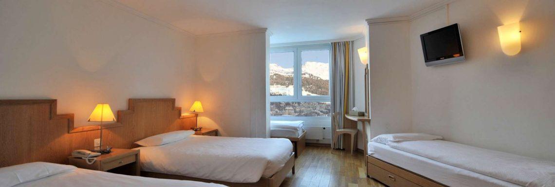 Club Med Saint-Moritz Roi Soleil, en Suisse -  Intérieur d'une chambre en occupation triple