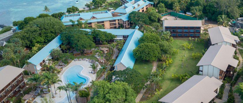 Vue aérienne en panoramique du Club Med