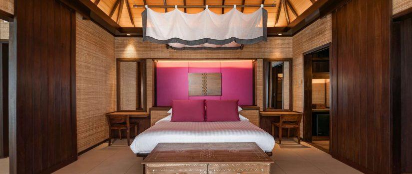 Club Med Kani, aux Maldives - Image d'une chambre dans un des bungalows de l'île.