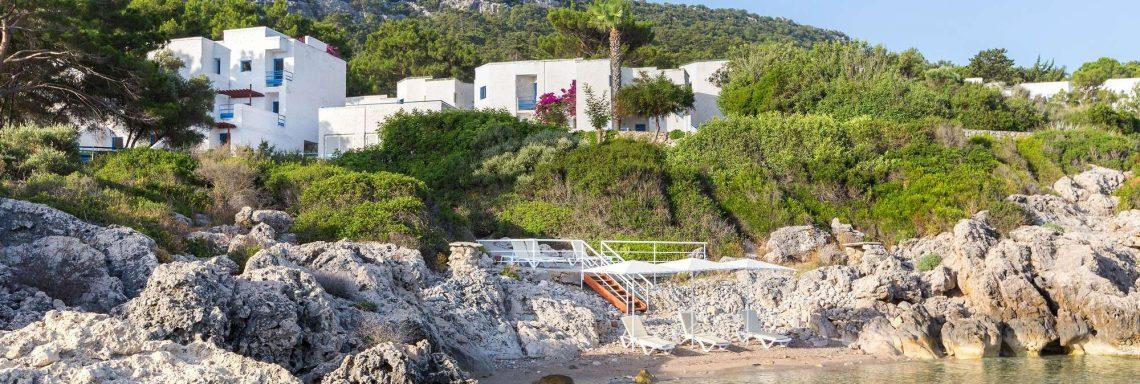 Club Med Kemer, en Turquie - Vue du complexe percher en hauteur dans les monts Taurus