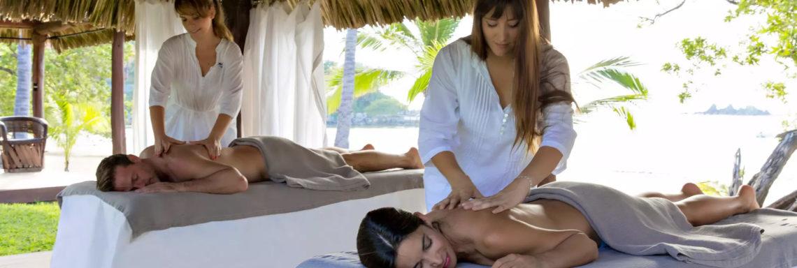 Club Med  Ixtapa Pacific, Mexique - Photo d'une séance de massage en duo