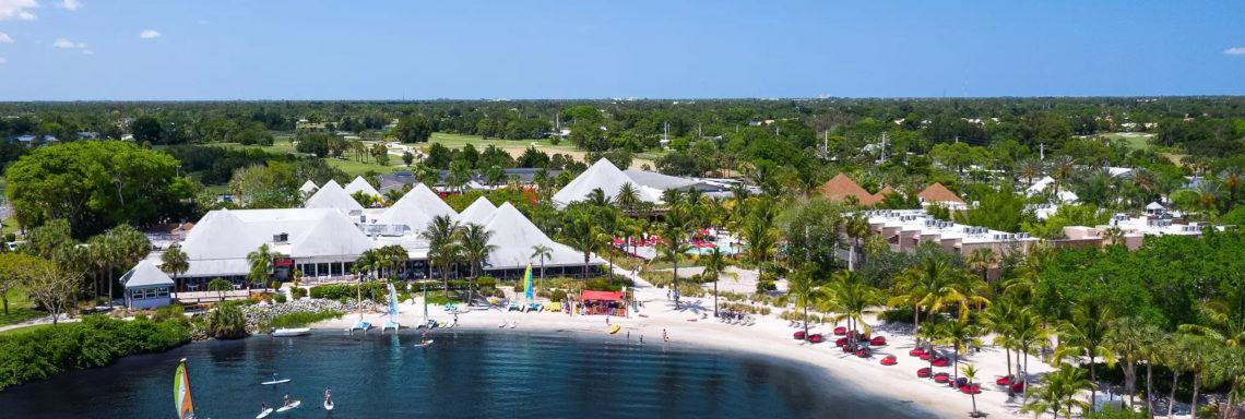 Club Med Sandpiper Bay, Floride- Vue aérienne du complexe dans son ensemble