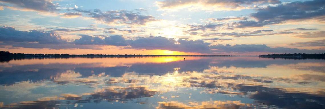 Club Med Sandpiper Bay, Floride - Image d'ensemble de la mer au coucher de soleil