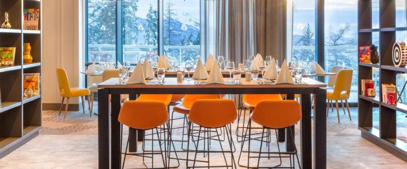 Club Med Arcs Panorama, en France - Vue d'une air de détente intérieure