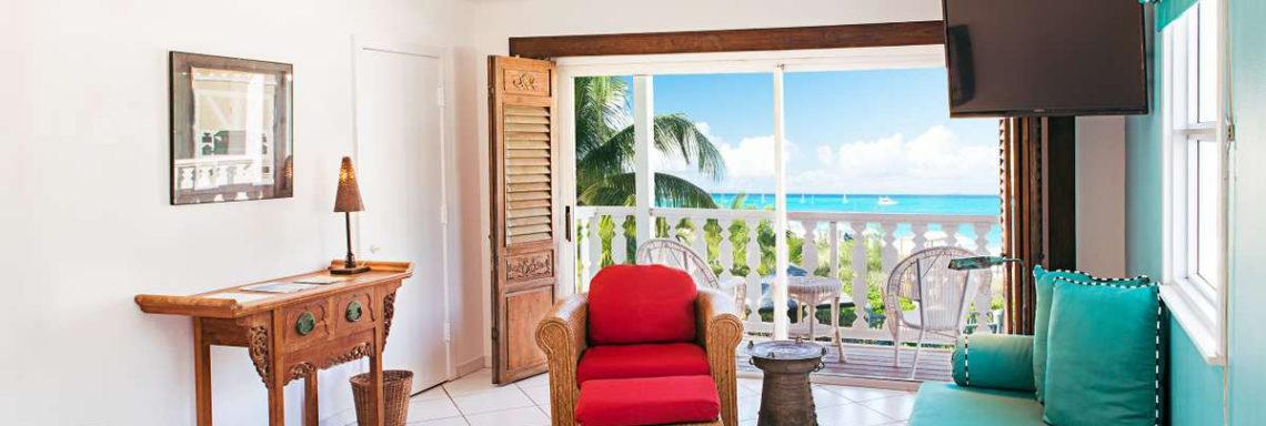 Club Med Columbus Isle, au Bahamas - Vue de l'intérieure d'une chambre Deluxe avec vue sur mer