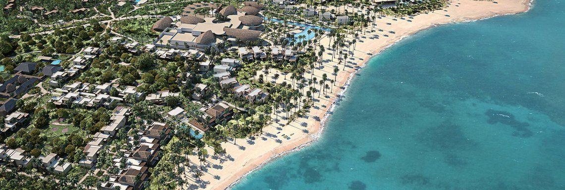 Club Med Miches Playa Esmeralda, en République Dominicaine - Vue aérienne du complexe et de ses alentours