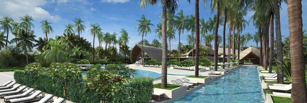 Club Med Miches Playa Esmeralda, en République Dominicaine - Vue d'une piscine luxueuse extérieure offerte par le complexe