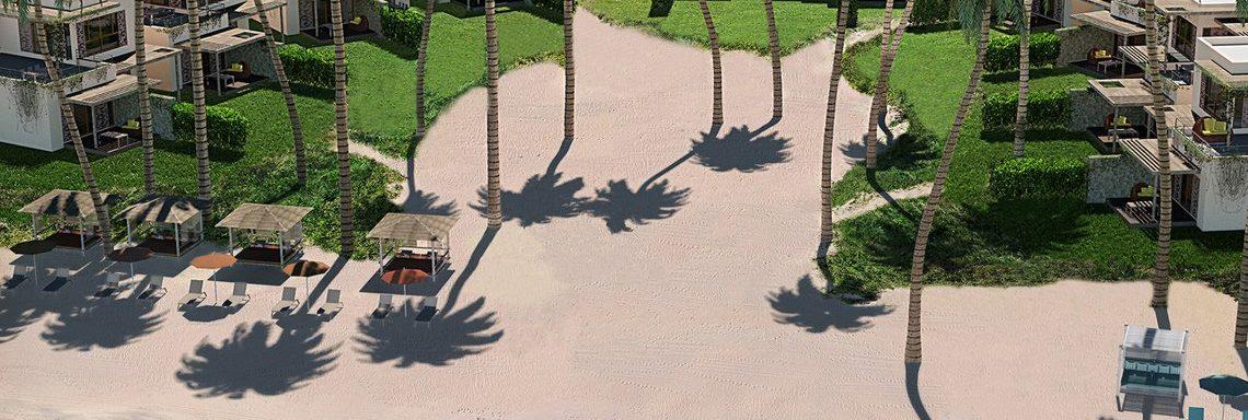 Club Med Miches Playa Esmeralda, en République Dominicaine - Vue aérienne de la plage privée des chambres Caribéennes