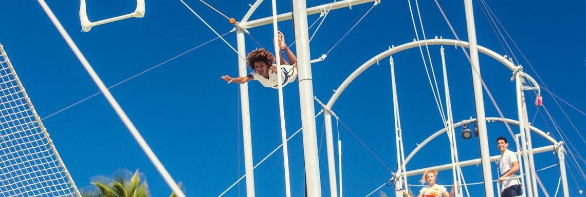 Club Med Miches Playa Esmeralda, en République Dominicaine - Image d'une session de trapèze volant