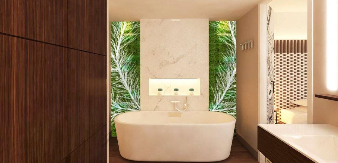 Club Med Samoëns, en France - Image de l'intérieure d'une salle de bain disponible dans l'une des trois suites offertes par Club Med